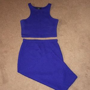 Co-ord Top and Skirt Royal Blue